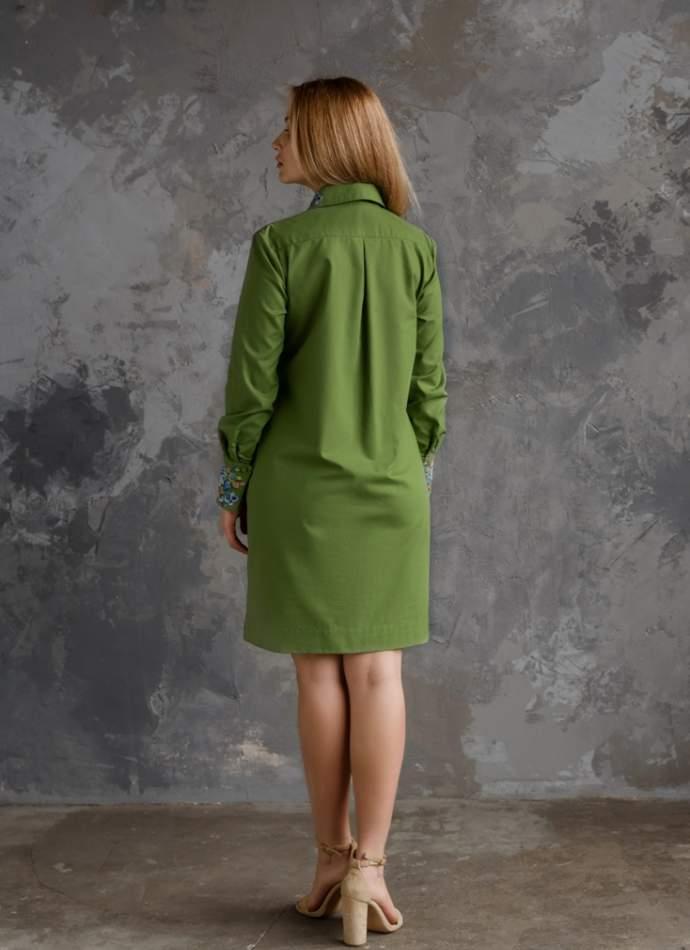 Сукня жіноча з вишитим комірцем, арт. 4552