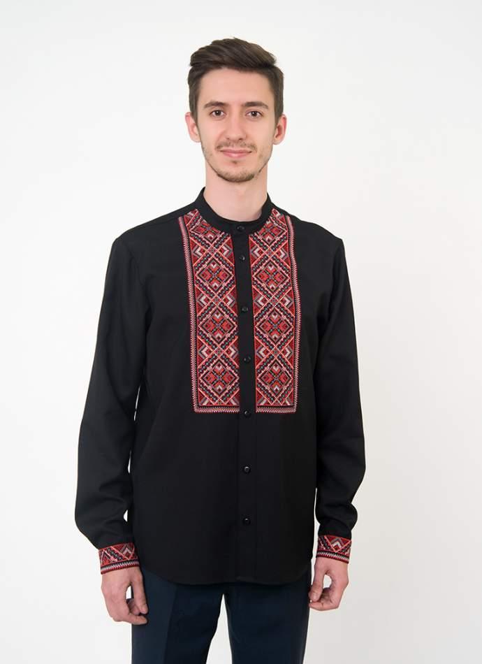 Чорна вишита сорочка чоловіча, арт. 4228