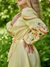 Платье вышиванка  (желтое), арт. 4548-миди