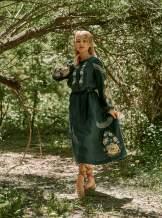 Плаття вишиванка (зелене),арт. 4532міді