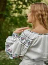 Платье вышиванка (белое), арт. 4504-короткое