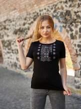 Чорна футболка з вишивкою, арт. 5131к.р.