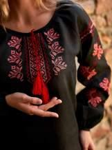 Черная женская вышиванка , арт. 4570