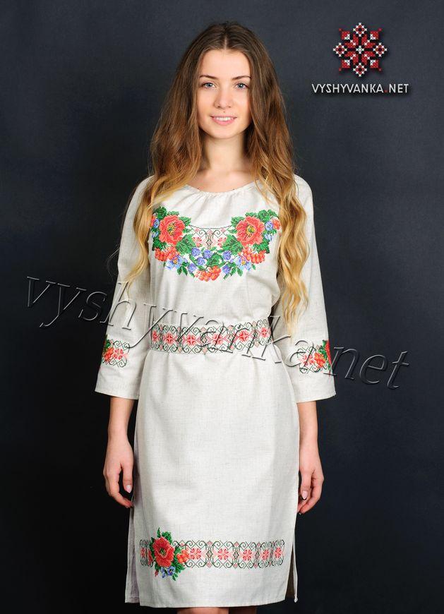Плаття з візерунком машинної вишивки