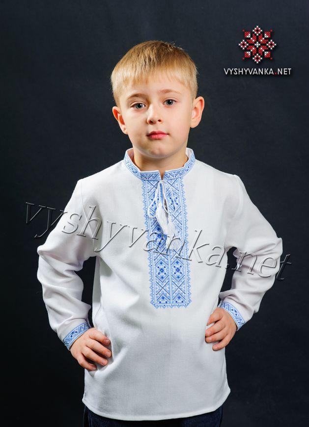 вишиванка з синім орнаментом на хлопчика купити 9901abbd38043