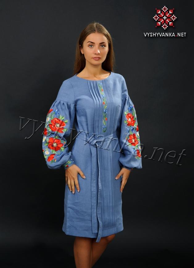 Дизайнерське вишите плаття в українському стилі bcd8c63721520
