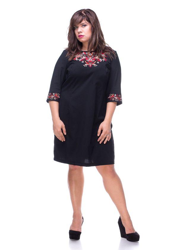 плаття з вишивкою великих розмірів купити. сукні для повних жінок купити acf2e0f04628d