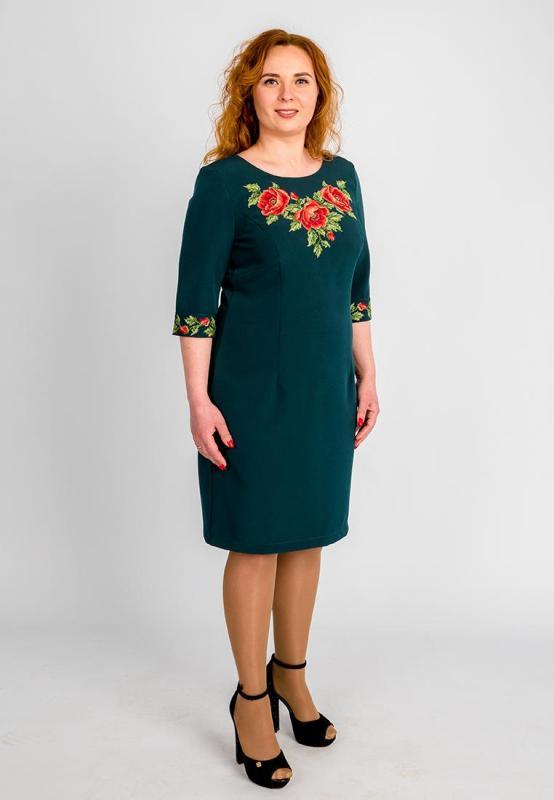 f0a9300be23182 Зелена сукня з вишивкою великі розміри. вишите плаття великі розміри
