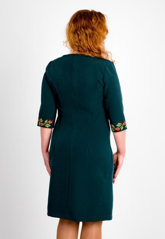 bbe5bfb4dd928e Зелене плаття з вишивкою, арт. 4194 великі розміри