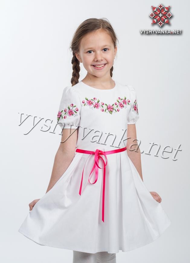 7713a0d27b8225 Дитяче плаття з вишивкою хрестиком, арт. 4306