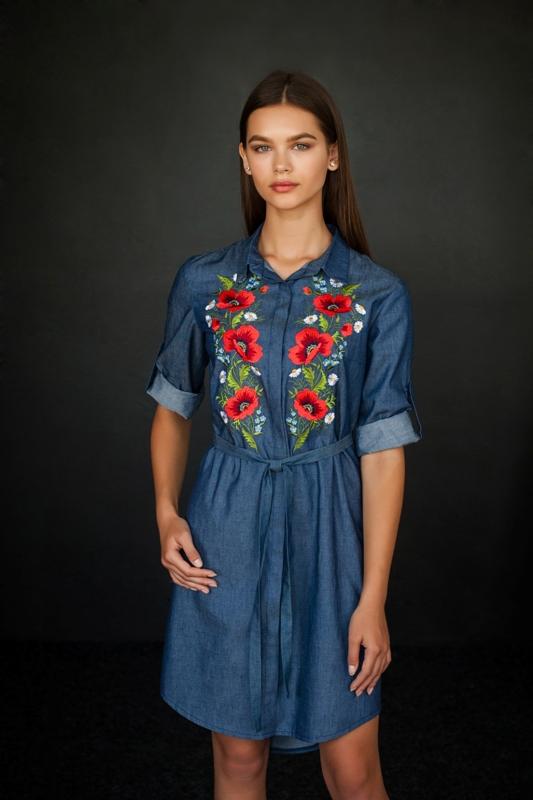 Жіноче плаття сорочка (маки) fb3d849251248