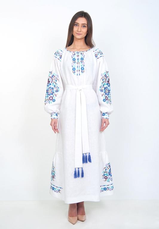 Плаття вишиванка в підлогу (біле) 22bc2124008fa